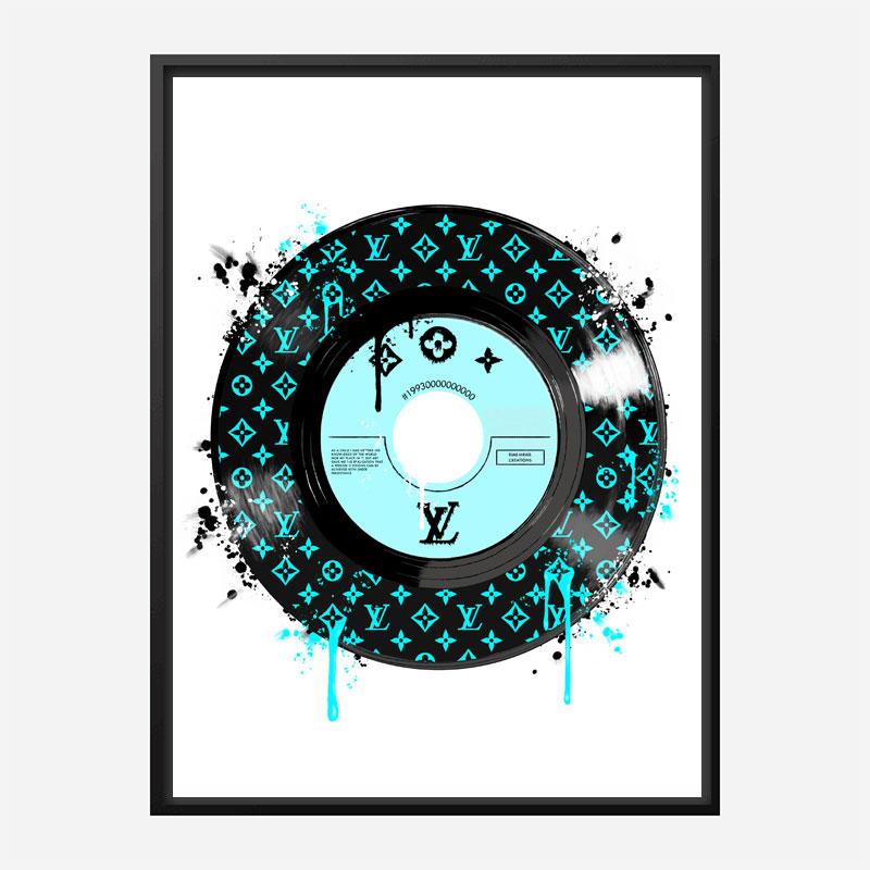 Baby Blue LV Record Art Print