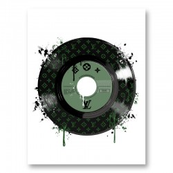 Green LV Record Art Print
