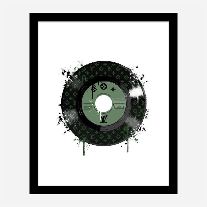 Green LV Record Art Print