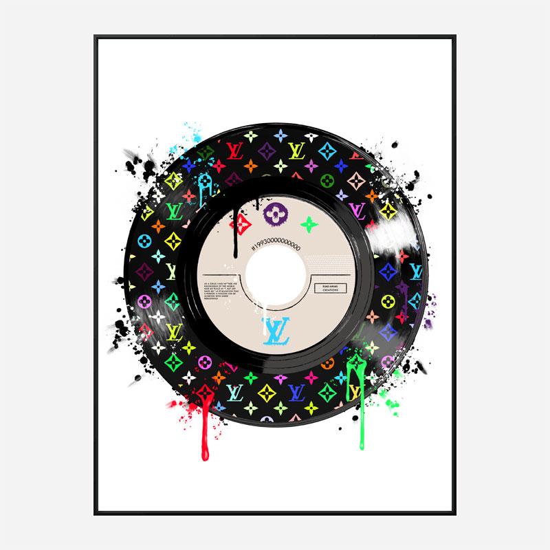 Multicolor LV Record Art Print