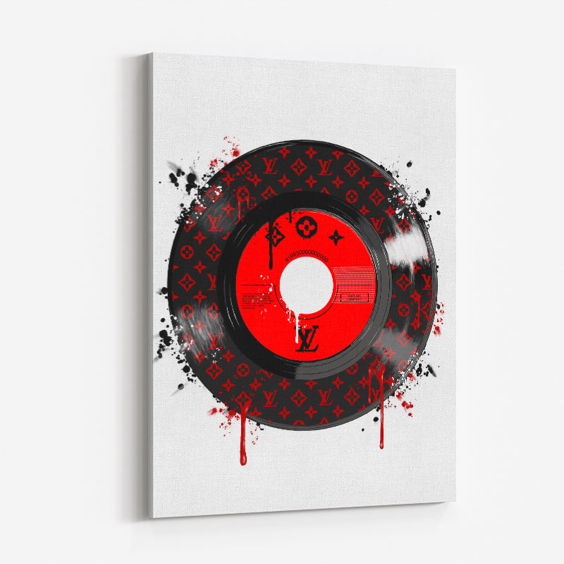 Red LV Record Art Print