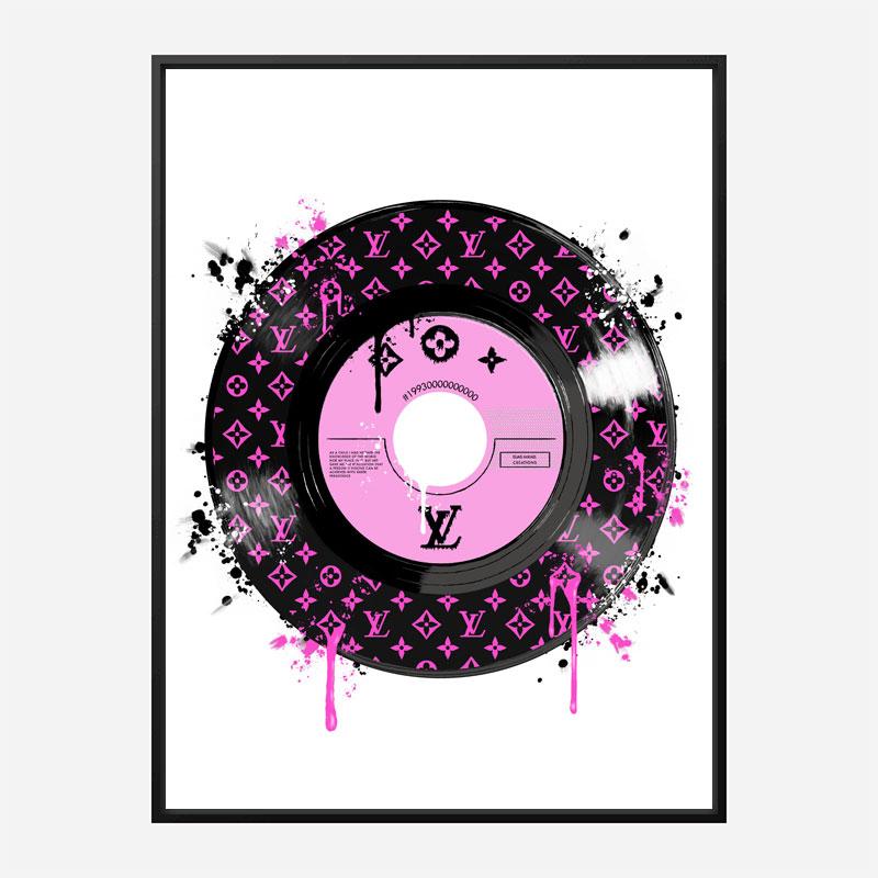 Pink LV Record Art Print