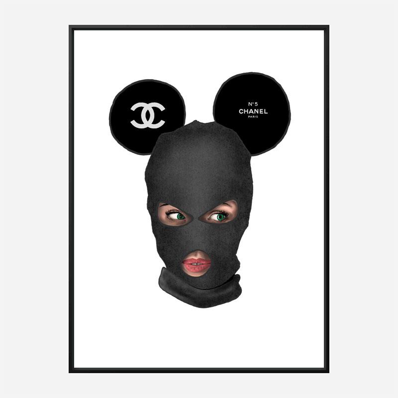 Chanel Micky Balaclava Art Print