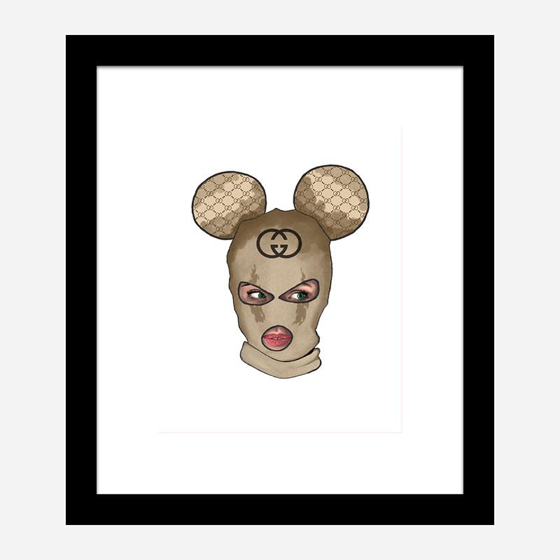 Gucci Micky Balaclava Art Print