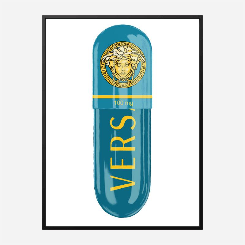 Versace Eros Blue 100mg Art Print