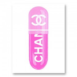 Chanel Pink 100mg Art Print