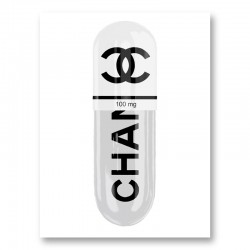 Chanel White 100mg Art Print