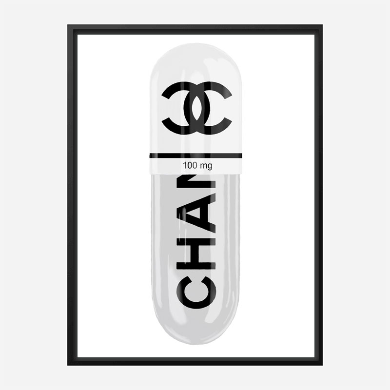Chanel White 100mg Art Print