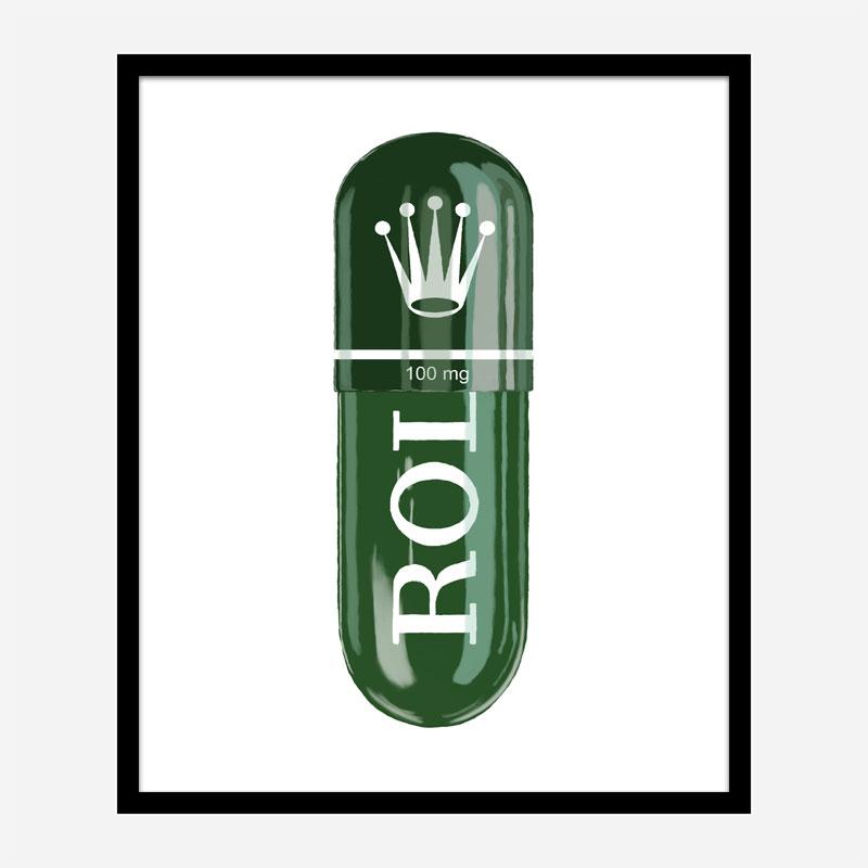 Rolex Green 100mg Art Print