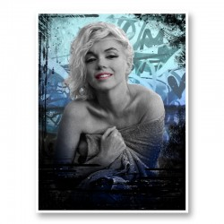 Marilyn Monroe Blue Art Print
