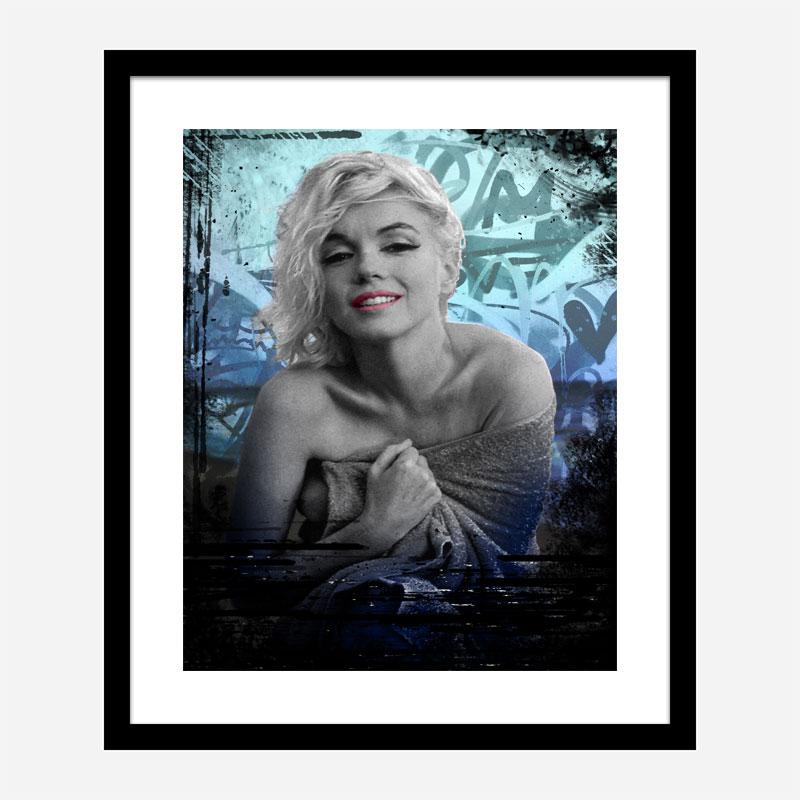 Marilyn Monroe Blue Art Print