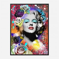Marilyn Monroe Flowers Pop Art Print