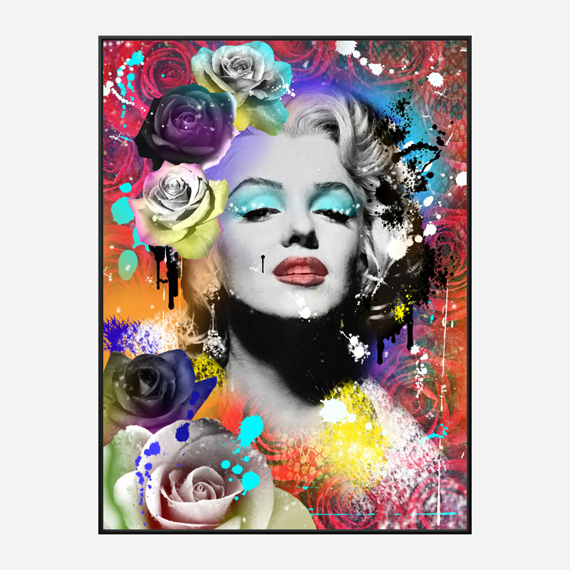 Marilyn Monroe Flowers Pop Art Print