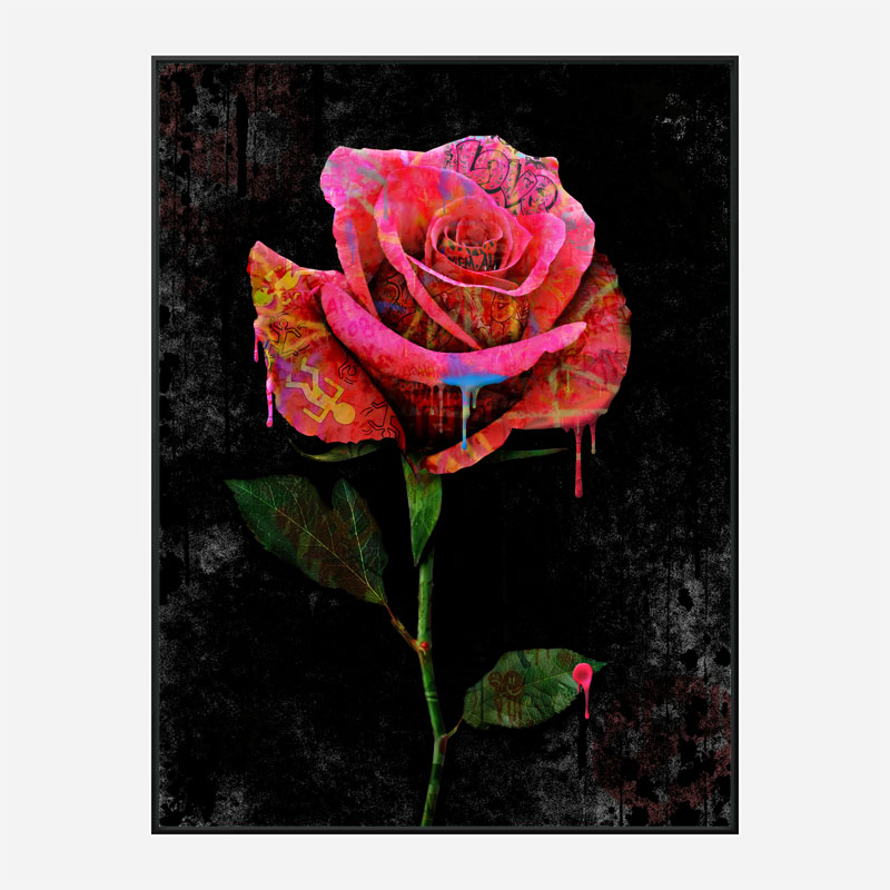 Graffiti Rose Art Print