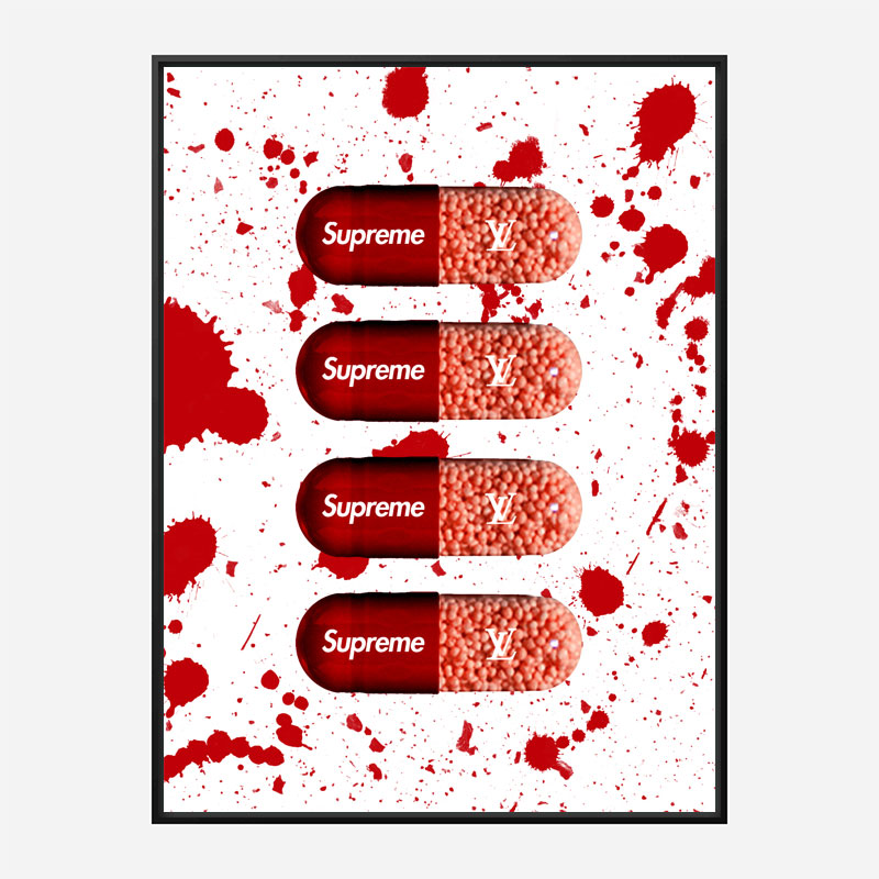 Supreme Pills Art Print