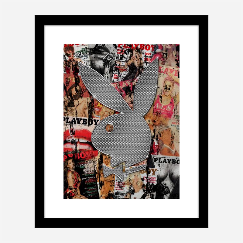 Playboy Diamond Bunny Art Print