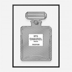 Chanel No5 Diamond Encrusted Perfume Bottle Art Print