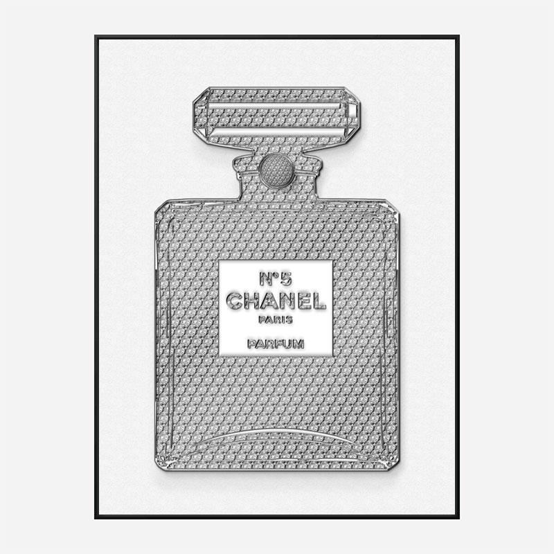 Chanel No5 Diamond Encrusted Perfume Bottle Art Print