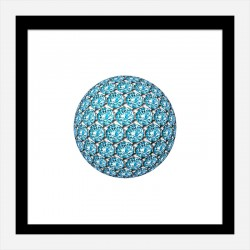 Diamond Ball Blue Art Print