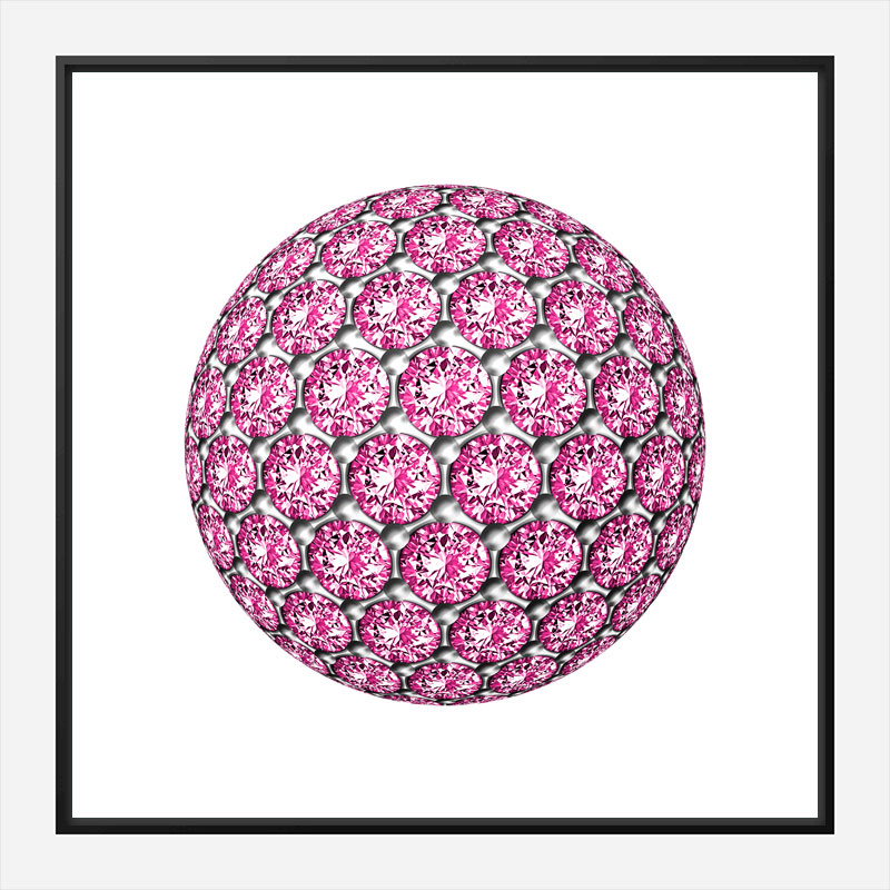 Diamond Ball Pink Art Print