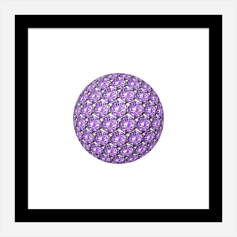 Diamond Ball Purple Art Print