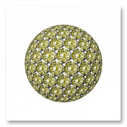 Diamond Ball Yellow Art Print