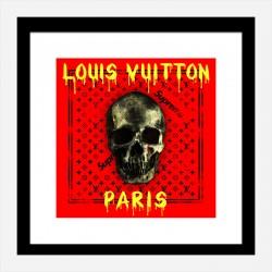 LV Skull Art Print