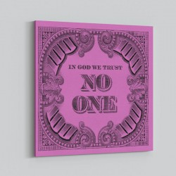 In God We Trust No One - Purple Art Print