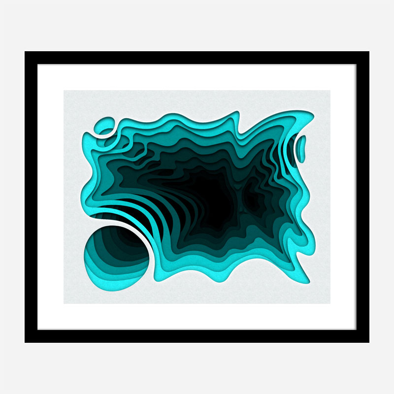 Aqua Abstract Art Print