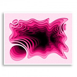 Hotpink Abstract Art Print