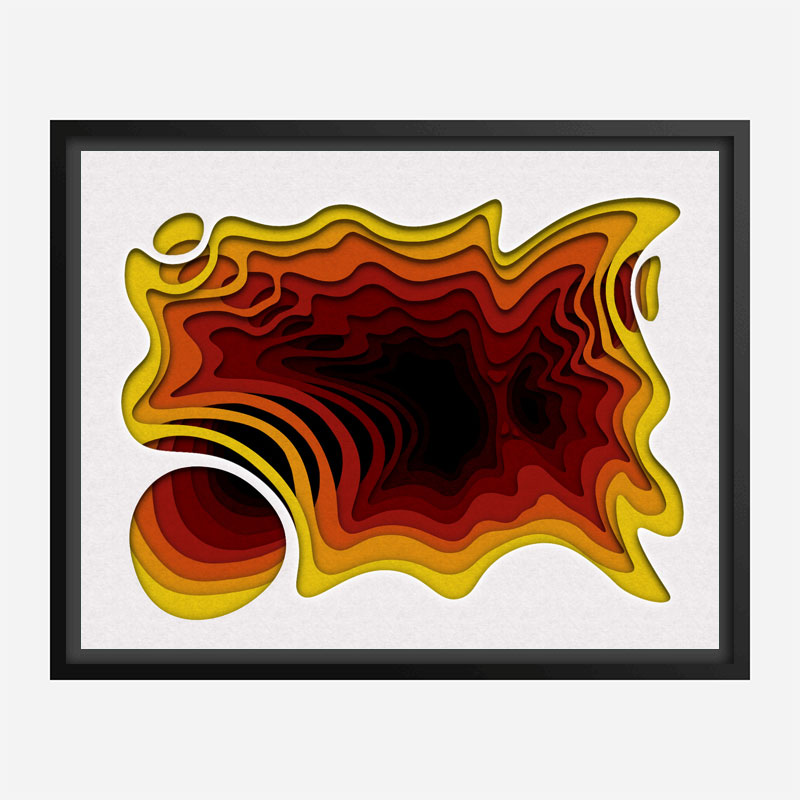 Solar Flair Abstract Art Print
