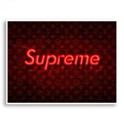 Supreme On LV Neon Art Print