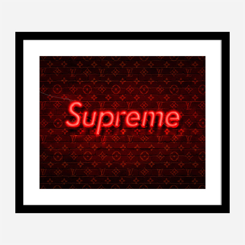 Supreme On LV Neon Art Print