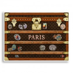LV Paris Trunk Art Print