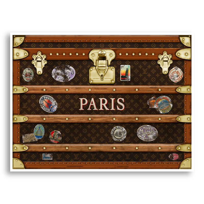 LV Paris Trunk Art Print