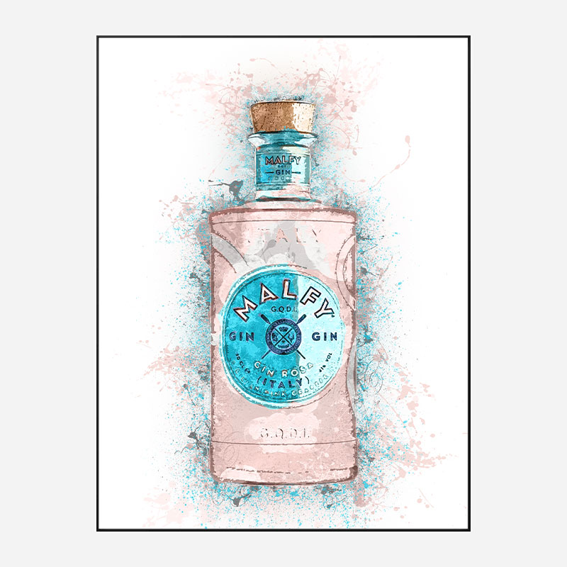 Malfy Rosa Gin Art Print