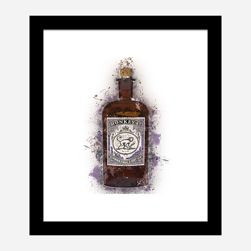 Monkey 47 Gin Art Print