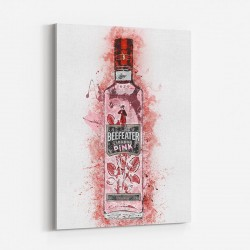 Beefeater Pink Abstract Art Print