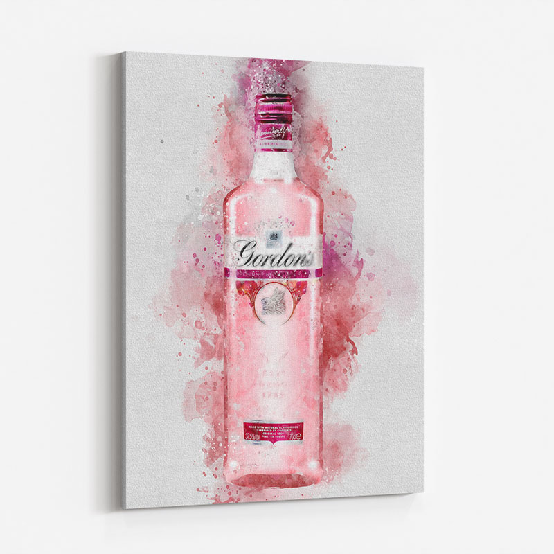 Gordon's Pink Gin Abstract Art Print