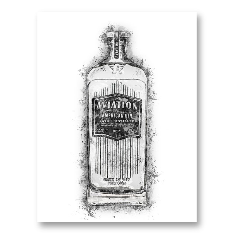 Aviation Gin Splash Art Print