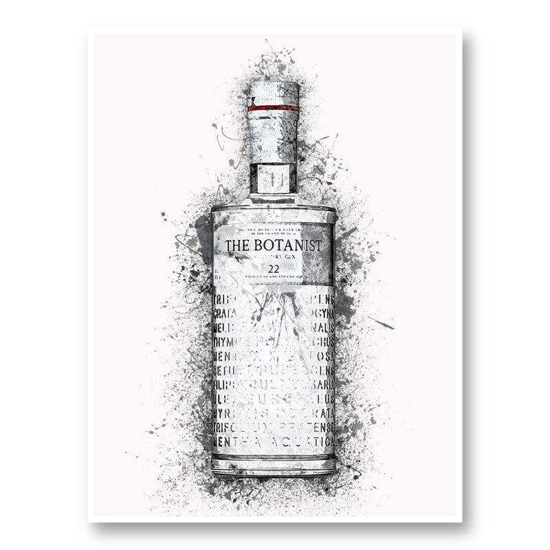 The Botanist Gin Abstract Art Print