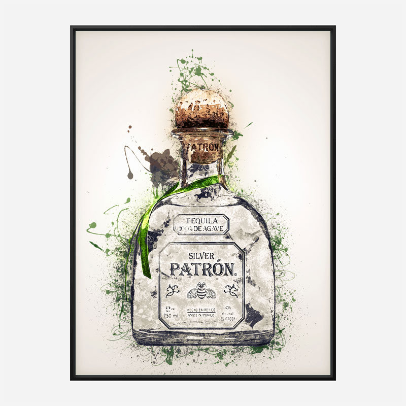 Patron Silver Tequila Abstract Art Print