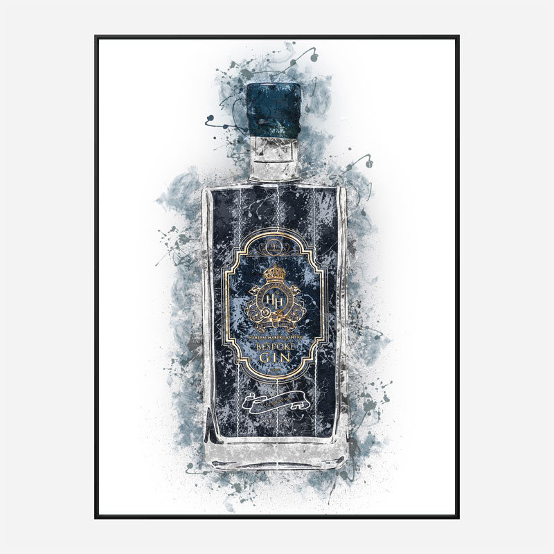 HH Bespoke Gin Abstract Art Print