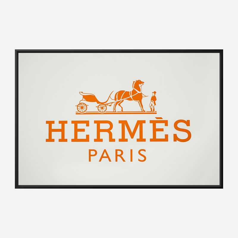 Hermes Logo Wall Art