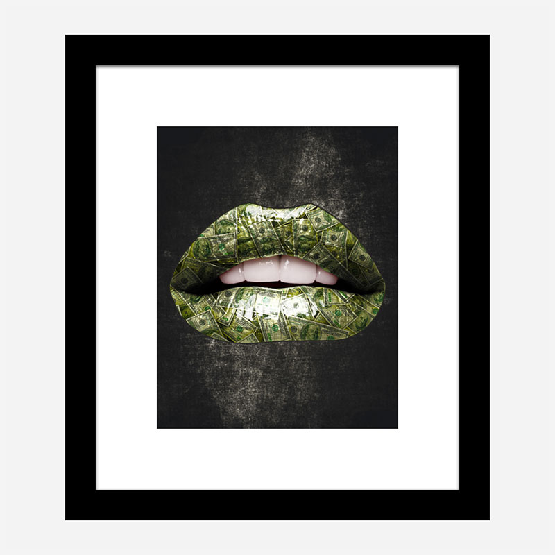 Dollar Lips Art Print