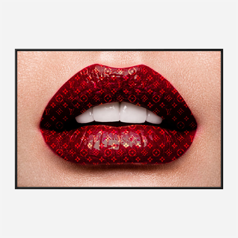 LV Lips Wall Art