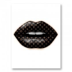 LV Black Lips Art Print