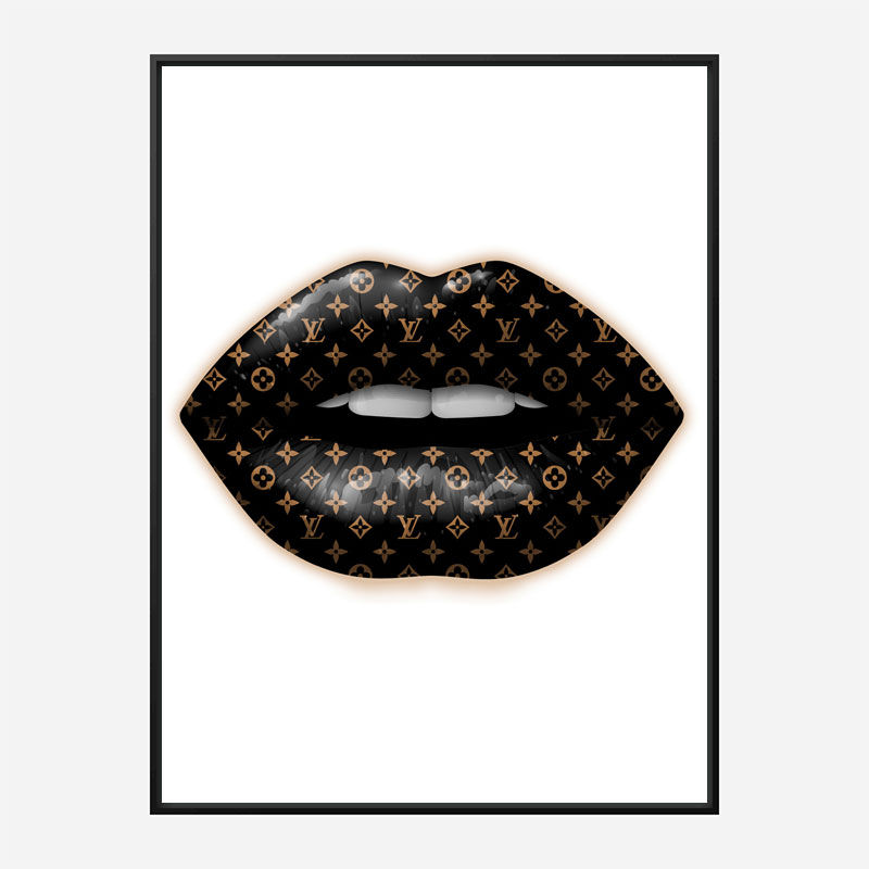 LV Black Lips Art Print