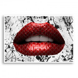 Gucci Red Lips Graffiti Wall Art