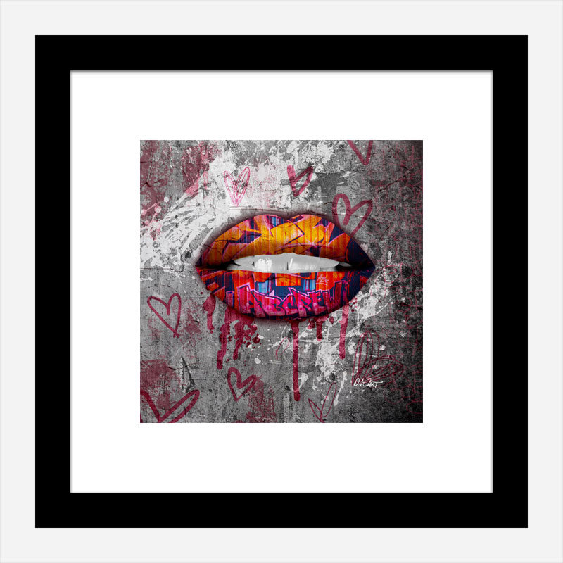 Graffiti Lips Art Print
